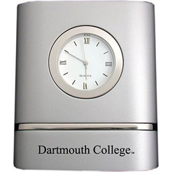Dartmouth College- Two-Toned Desk Clock -Silver