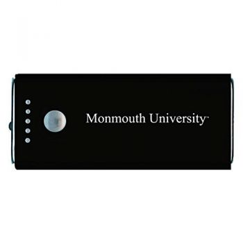 Monmouth University -Portable Cell Phone 5200 mAh Power Bank Charger -Black