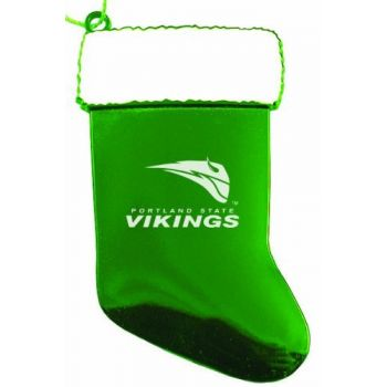 Portland State University - Christmas Holiday Stocking Ornament - Green