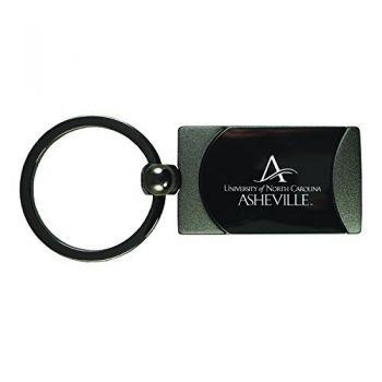 University of North Carolina at Asheville-Two-Toned gunmetal Key Tag-Gunmetal