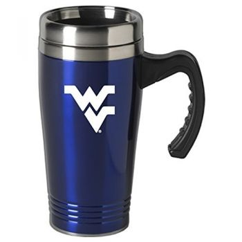 West Virginia University-16 oz. Stainless Steel Mug-Blue