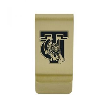 University of Tulsa|Money Clip with Contemporary Metals Finish|Solid Brass|High Tension Clip to Securely Hold Cash, Cards and ID's|Silver