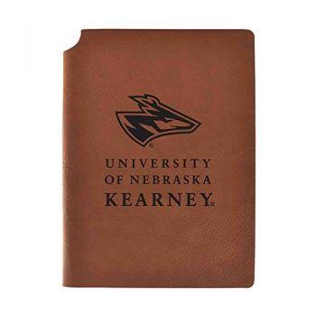 University of Nebraska at Kearney Velour Journal with Pen Holder|Carbon Etched|Officially Licensed Collegiate Journal|