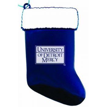 University of Detroit Mercy - Christmas Holiday Stocking Ornament - Blue