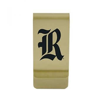 The University of Rhode Island|Money Clip with Contemporary Metals Finish|Solid Brass|High Tension Clip to Securely Hold Cash, Cards and ID's|Silver