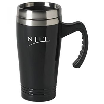 New Jersey institute of Technology-16 oz. Stainless Steel Mug-Black