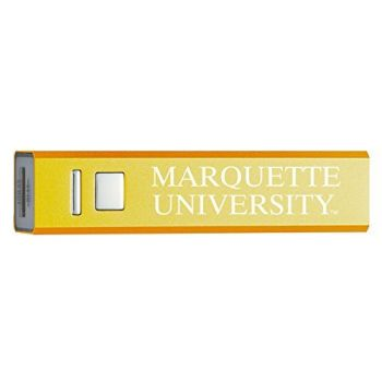 Marquette University - Portable Cell Phone 2600 mAh Power Bank Charger - Gold