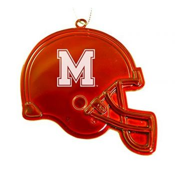 University of Memphis - Christmas Holiday Football Helmet Ornament - Orange