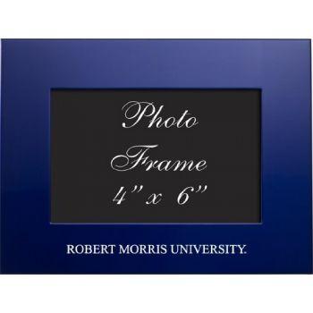 Robert Morris University - 4x6 Brushed Metal Picture Frame - Blue