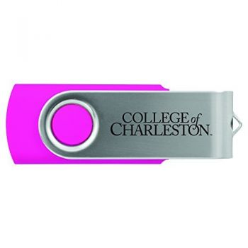 College of Charleston-8GB 2.0 USB Flash Drive-Pink