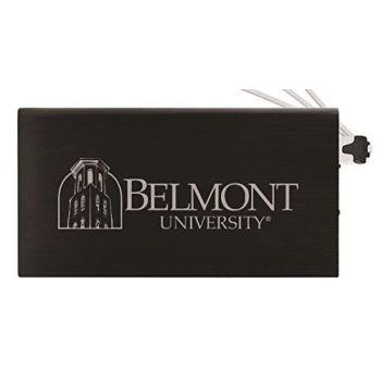 8000 mAh Portable Cell Phone Charger-Belmont University-Black