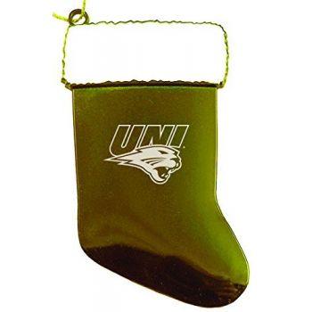 University of Northern Iowa - Christmas Holiday Stocking Ornament - Gold