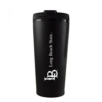 Long Beach State University -16 oz. Travel Mug Tumbler-Black