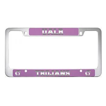University of Arkansas At Little Rock -Metal License Plate Frame-Pink