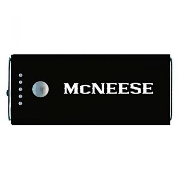 McNeese State University-Portable Cell Phone 5200 mAh Power Bank Charger -Black