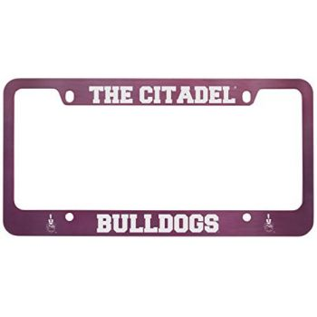 The Citadel-Metal License Plate Frame-Pink