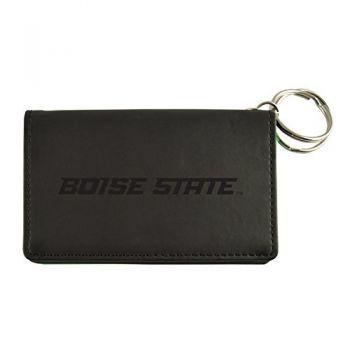 Velour ID Holder-Boise State University-Black