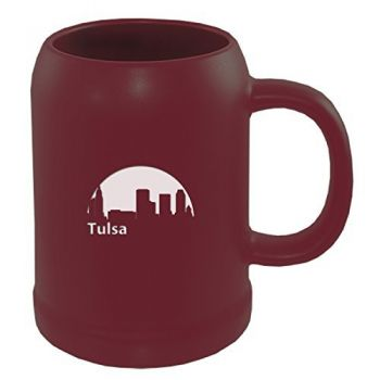 22 oz Ceramic Stein Coffee Mug - Tulsa City Skyline