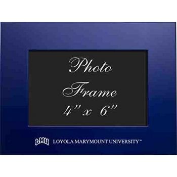 Loyola Marymount University - 4x6 Brushed Metal Picture Frame - Blue