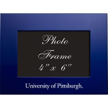 University of Pittsburgh - 4x6 Brushed Metal Picture Frame - Blue