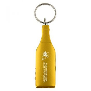 Northwestern State University-Wine Shaped Bottle Opener-Gold