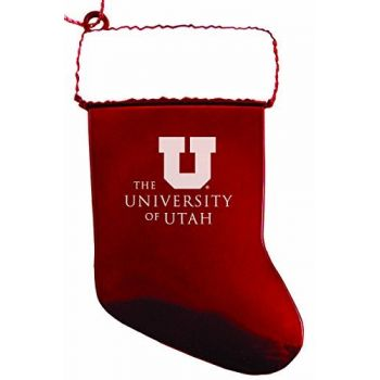 University of Utah - Christmas Holiday Stocking Ornament - Red