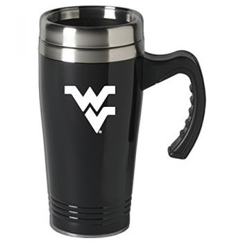 West Virginia University-16 oz. Stainless Steel Mug-Black