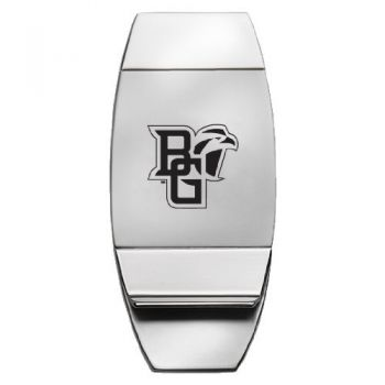Bowling Green State University - Two-Toned Money Clip - Silver
