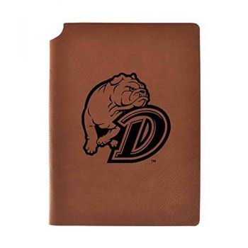 Drake University Velour Journal with Pen Holder|Carbon Etched|Officially Licensed Collegiate Journal|