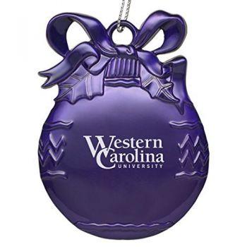 Western Carolina University - Pewter Christmas Tree Ornament - Purple