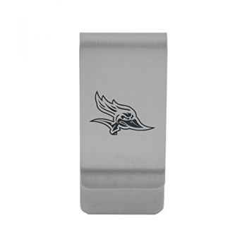 California State University, Bakersfield|Money Clip with Contemporary Metals Finish|Solid Brass|High Tension Clip to Securely Hold Cash, Cards and ID's|Gold