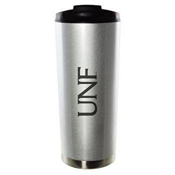 University of North Florida-16oz. Stainless Steel Vacuum Insulated Travel Mug Tumbler-Silver