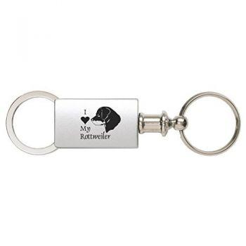 Detachable Valet Keychain Fob  - I Love My Rottweiler