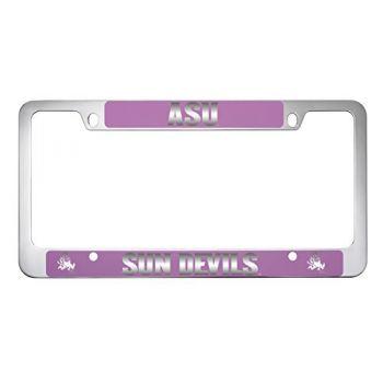 ASU Sun Devils -Metal License Plate Frame-Pink