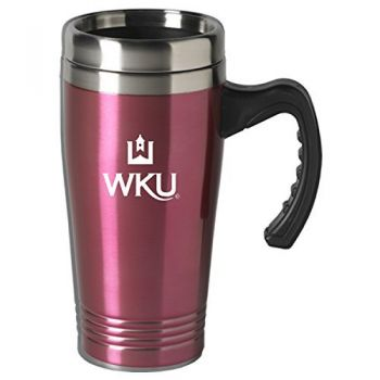 Western Kentucky University-16 oz. Stainless Steel Mug-Pink