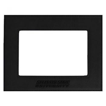 Savannah State University-Velour Picture Frame 4x6-Black