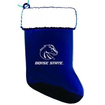 Boise State University - Christmas Holiday Stocking Ornament - Blue