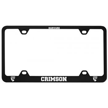 Harvard University -Metal License Plate Frame-Black