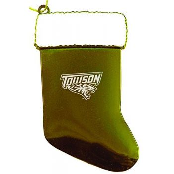 Towson University - Chirstmas Holiday Stocking Ornament - Gold