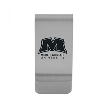 Morehead State University|Money Clip with Contemporary Metals Finish|Solid Brass|High Tension Clip to Securely Hold Cash, Cards and ID's|Gold