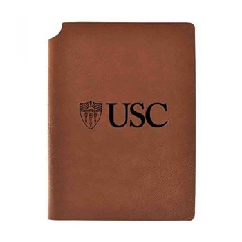 University of Southern California Velour Journal with Pen Holder|Carbon Etched|Officially Licensed Collegiate Journal|