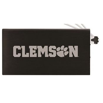 8000 mAh Portable Cell Phone Charger-Clemson University -Black