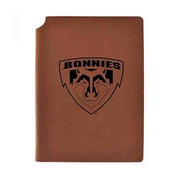 St. Bonaventure Bonnies Velour Journal with Pen Holder|Carbon Etched|Officially Licensed Collegiate Journal|