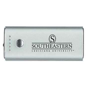 Southeastern Louisiana University -Portable Cell Phone 5200 mAh Power Bank Charger -Silver