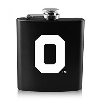University of Oregon -6 oz. Color Stainless Steel Flask-Black