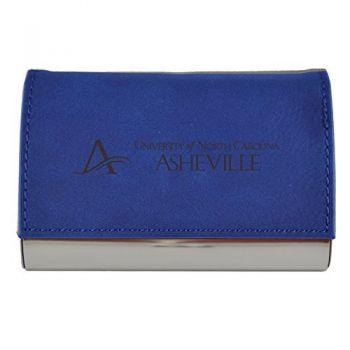 Velour Business Cardholder-University of North Carolina at Asheville-Blue