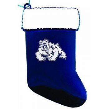 California State University, Fresno - Christmas Holiday Stocking Ornament - Blue