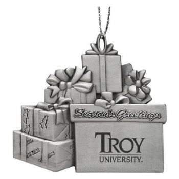 Troy University - Pewter Gift Package Ornament