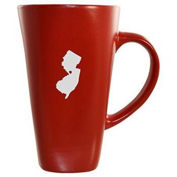 16 oz Square Ceramic Coffee Mug - I Heart New Jersey - I Heart New Jersey