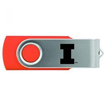 University of Illinois -8GB 2.0 USB Flash Drive-Orange
